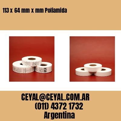 113 x 64 mm x mm Poliamida