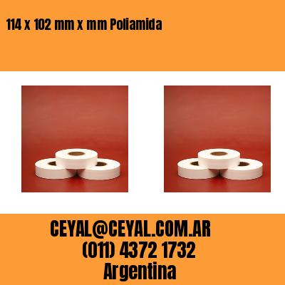 114 x 102 mm x mm Poliamida