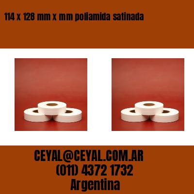 114 x 128 mm x mm poliamida satinada