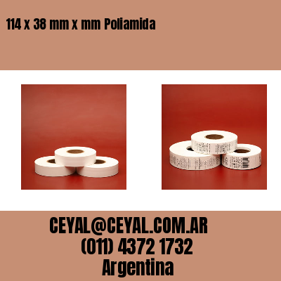 114 x 38 mm x mm Poliamida