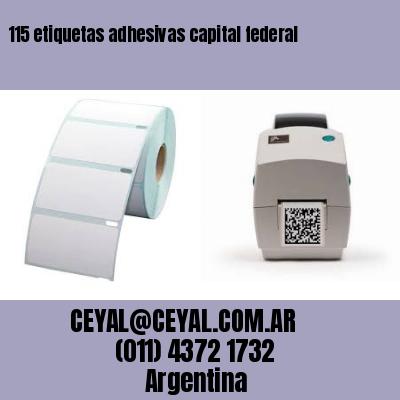 115 etiquetas adhesivas capital federal