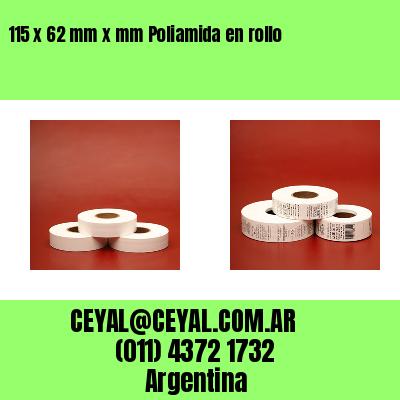115 x 62 mm x mm Poliamida en rollo