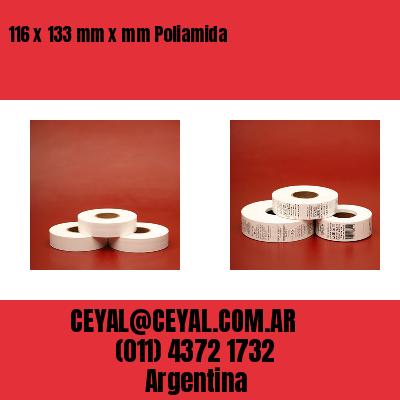 116 x 133 mm x mm Poliamida