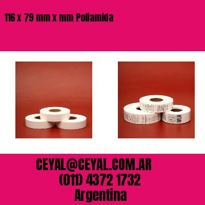 116 x 79 mm x mm Poliamida