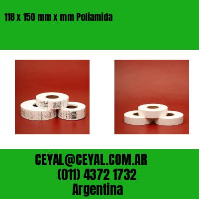 118 x 150 mm x mm Poliamida