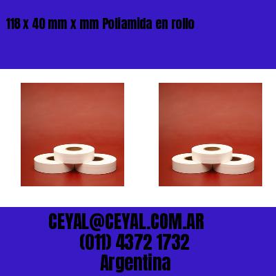 118 x 40 mm x mm Poliamida en rollo