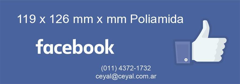 119 x 126 mm x mm Poliamida