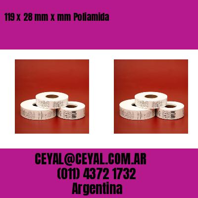 119 x 28 mm x mm Poliamida