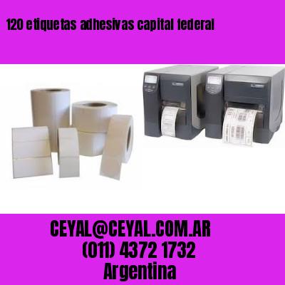 120 etiquetas adhesivas capital federal