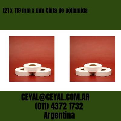 121 x 119 mm x mm Cinta de poliamida
