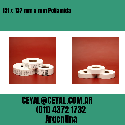 121 x 137 mm x mm Poliamida