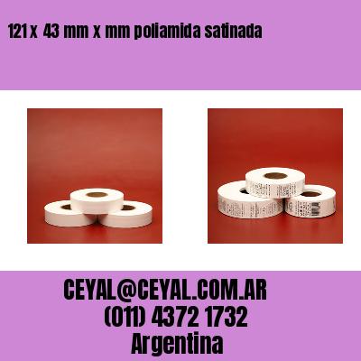 121 x 43 mm x mm poliamida satinada