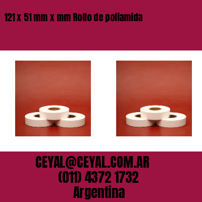121 x 51 mm x mm Rollo de poliamida