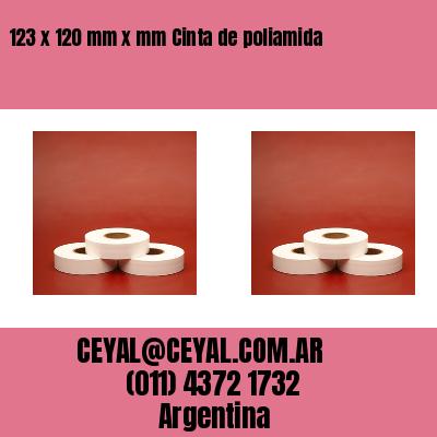123 x 120 mm x mm Cinta de poliamida