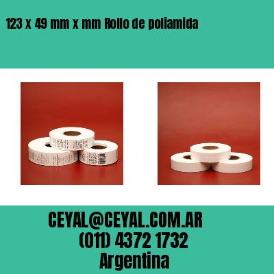123 x 49 mm x mm Rollo de poliamida