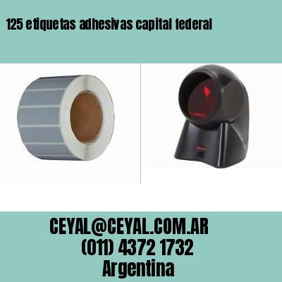 125 etiquetas adhesivas capital federal