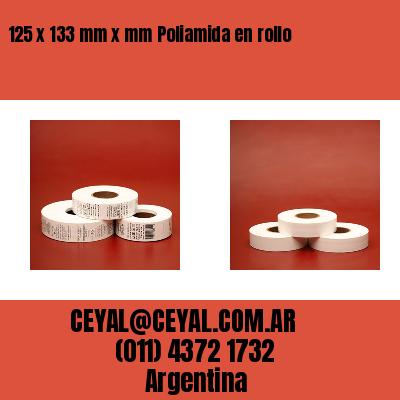 125 x 133 mm x mm Poliamida en rollo