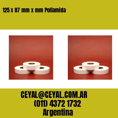 125 x 87 mm x mm Poliamida