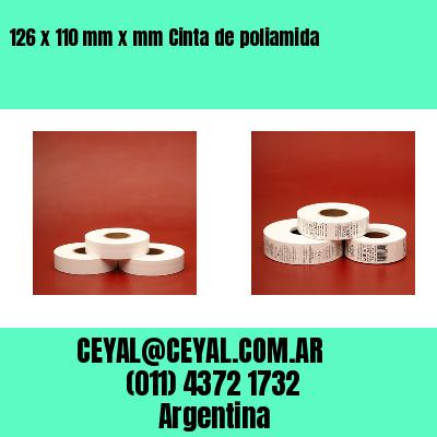 126 x 110 mm x mm Cinta de poliamida
