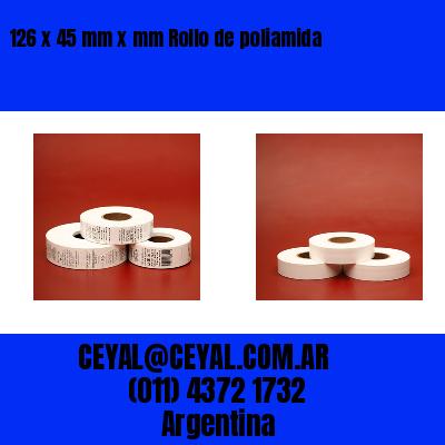 126 x 45 mm x mm Rollo de poliamida