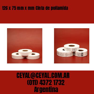 126 x 75 mm x mm Cinta de poliamida