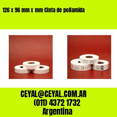 126 x 96 mm x mm Cinta de poliamida