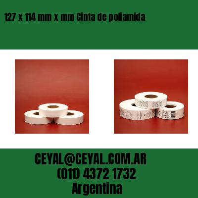 127 x 114 mm x mm Cinta de poliamida