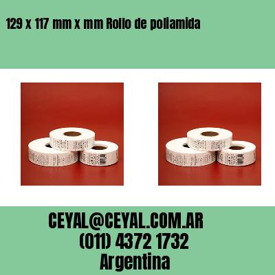 129 x 117 mm x mm Rollo de poliamida