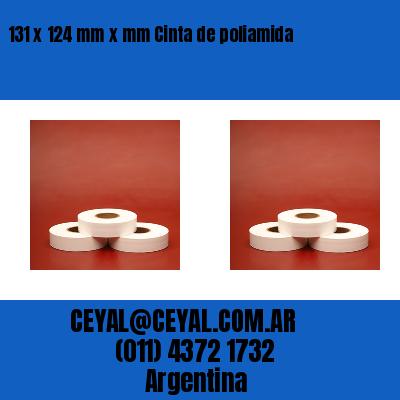 131 x 124 mm x mm Cinta de poliamida