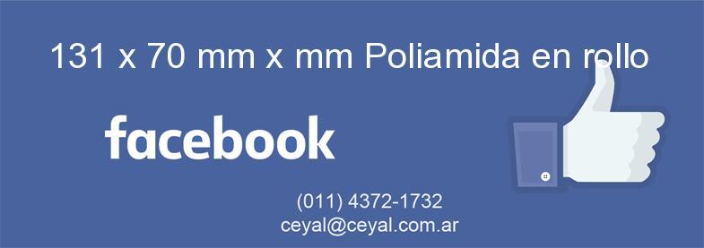 131 x 70 mm x mm Poliamida en rollo
