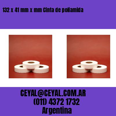 132 x 41 mm x mm Cinta de poliamida