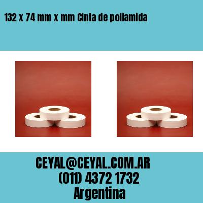 132 x 74 mm x mm Cinta de poliamida