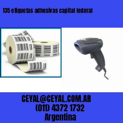 135 etiquetas adhesivas capital federal