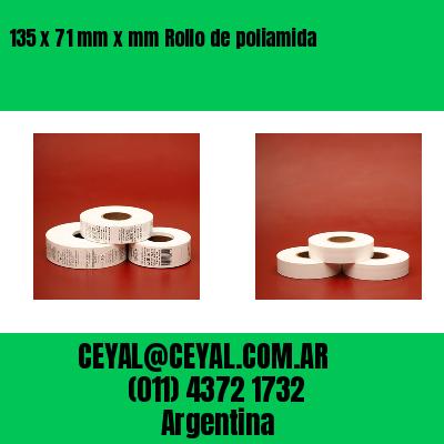 135 x 71 mm x mm Rollo de poliamida