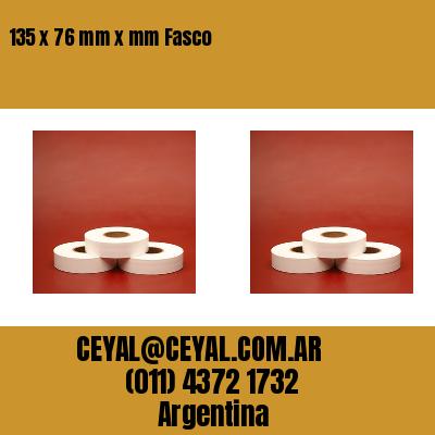 135 x 76 mm x mm Fasco