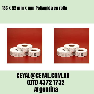 136 x 52 mm x mm Poliamida en rollo
