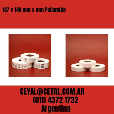137 x 140 mm x mm Poliamida
