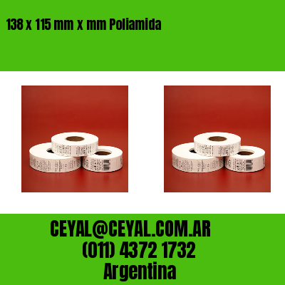 138 x 115 mm x mm Poliamida