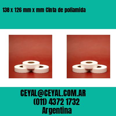 138 x 126 mm x mm Cinta de poliamida