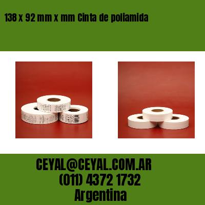 138 x 92 mm x mm Cinta de poliamida