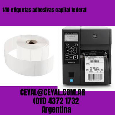 140 etiquetas adhesivas capital federal