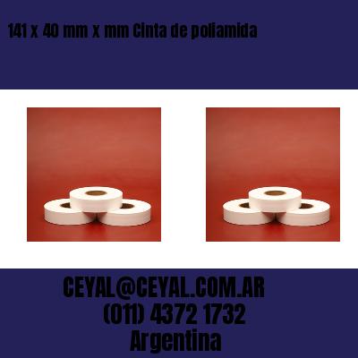 141 x 40 mm x mm Cinta de poliamida