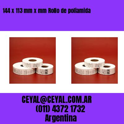 144 x 113 mm x mm Rollo de poliamida