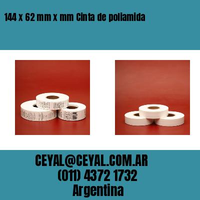 144 x 62 mm x mm Cinta de poliamida