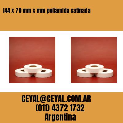 144 x 70 mm x mm poliamida satinada