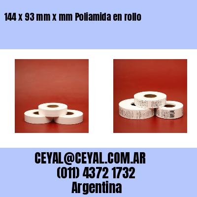 144 x 93 mm x mm Poliamida en rollo