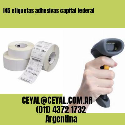 145 etiquetas adhesivas capital federal