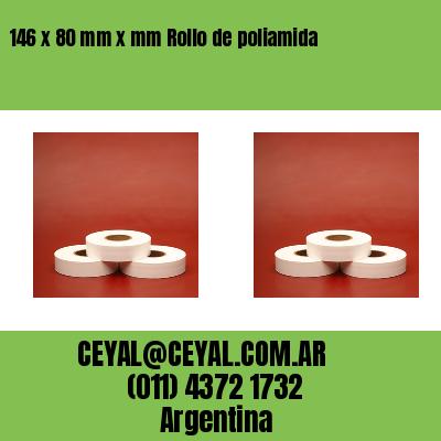 146 x 80 mm x mm Rollo de poliamida