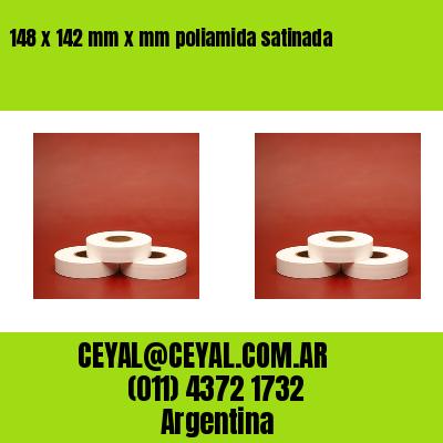 148 x 142 mm x mm poliamida satinada