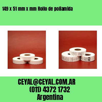 149 x 51 mm x mm Rollo de poliamida